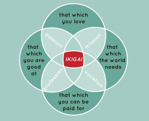 Ikigai – to, co mnoho lidí (ve tmě) řeší