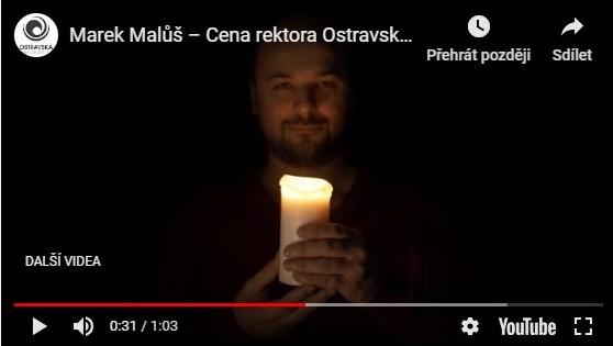 Marek Malůš - Cena rektora Ostravské univerzity 2018